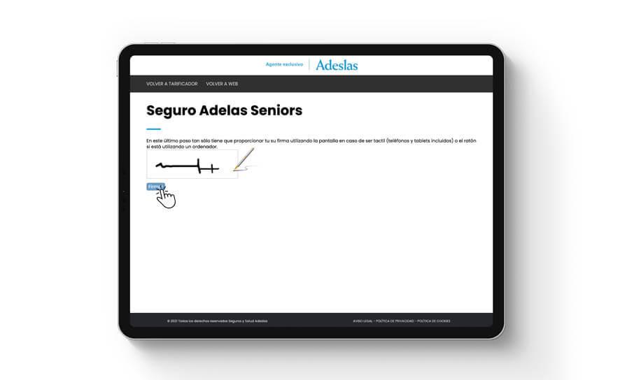 paso firma contrato seguro Adeslas por internet